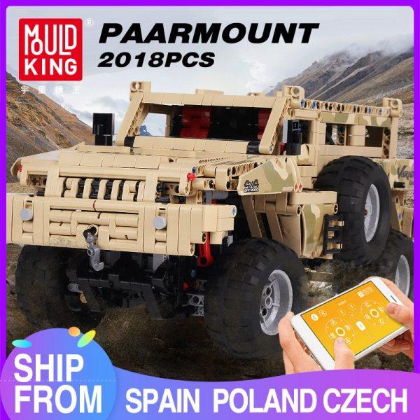 Mould King 13131 Marauder Truck App Rc Motor Compatible Techinic Series Moc 23007 Model Building Blocks