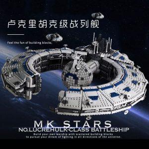 Mould King 21008 Star Plan Series Class Battleship Droid Control Ship Bricks Moc 13056 Building Blocks 1