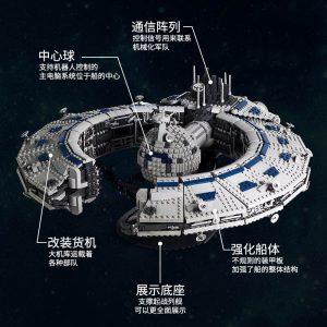 Mould King 21008 Star Plan Series Class Battleship Droid Control Ship Bricks Moc 13056 Building Blocks 3