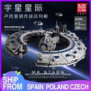 Mould King 21008 Star Plan Series Class Battleship Droid Control Ship Bricks Moc 13056 Building Blocks