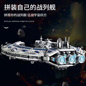 Mould King 21008 Star Plan Series Class Battleship Droid Control Ship Bricks Moc 13056 Building Blocks 4