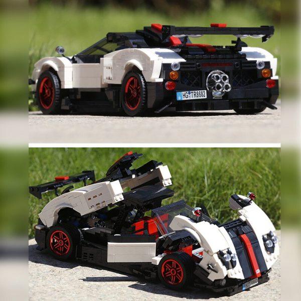 Mould King Creaative Idea Technic Series Series Paganis Zonda Cinque Roadster Model Building Blocks Bricks 13105 4