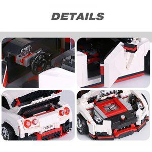 Mould King Creative Series Technic Nismo Nissan Gtr R35 Speed Racing Sport Car Model Building Blocks 3