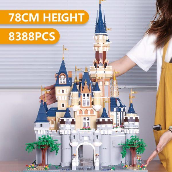 Mould King Girl Friends The Moc 13132 Princess Disneys Castle Model Building Blocks Bricks With 71040 1