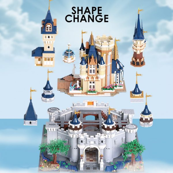 Mould King Girl Friends The Moc 13132 Princess Disneys Castle Model Building Blocks Bricks With 71040 2