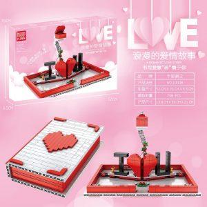 Mould King Jk Love 520 Creative Toys The Romantic Story Book Model Building Blocks Bricks Toys 2