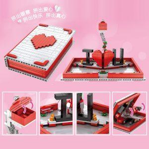 Mould King Jk Love 520 Creative Toys The Romantic Story Book Model Building Blocks Bricks Toys 4