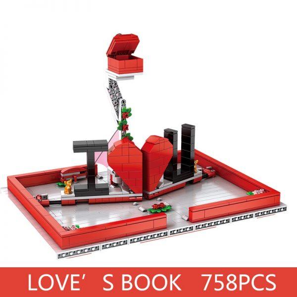 Mould King Jk Love 520 Creative Toys The Romantic Story Book Model Building Blocks Bricks Toys 5