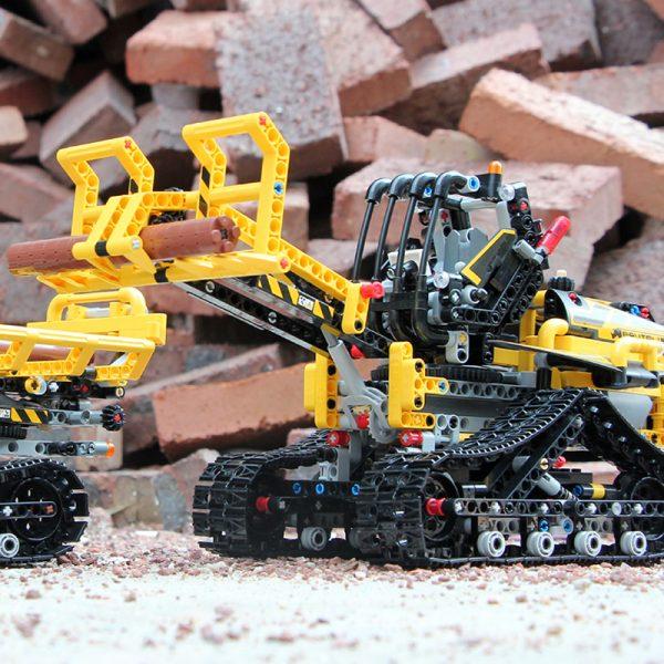 Mould King Moc 13034 13035 Technic Series Motor Motorized Tracked Loader Set Rc Model Building Blocks 1
