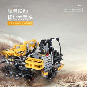 Mould King Moc 13034 13035 Technic Series Motor Motorized Tracked Loader Set Rc Model Building Blocks 3