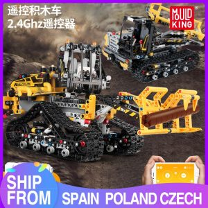 Mould King Moc 13034 13035 Technic Series Motor Motorized Tracked Loader Set Rc Model Building Blocks