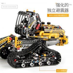 Mould King Moc 13034 13035 Technic Series Motor Motorized Tracked Loader Set Rc Model Building Blocks 4