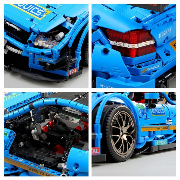 Mould King Moc 13073 Technic Series Benzs Amg C63 Sport Racing Car Model Building Blocks Bricks 1