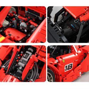 Mould King Moc 13085 Technic Series Ferraried Fxx F40 Enzo Sports Car Model Building Blocks Bricks 3