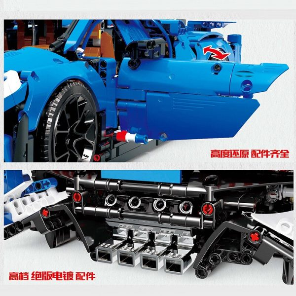 Mould King Moc 13125 Technic Series Bugattis Chiron Sport Racing Car Model Building Blocks Bricks Compatible 1