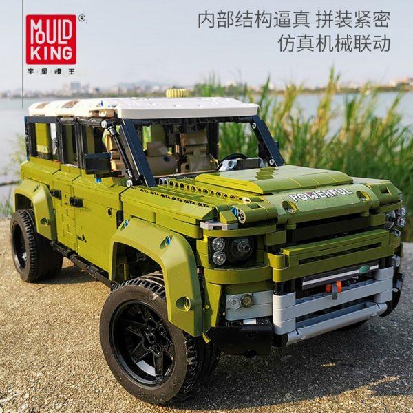 Mould King Moc 13175 Technic Series Land Car Rover Off Road Vehicle Model Building Blocks Bricks 1