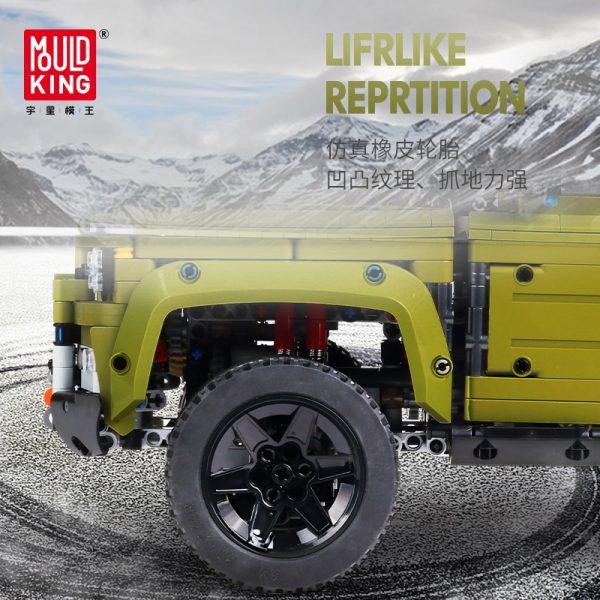 Mould King Moc 13175 Technic Series Land Car Rover Off Road Vehicle Model Building Blocks Bricks 4