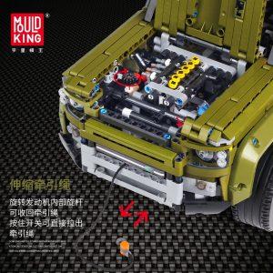 Mould King Moc 13175 Technic Series Land Car Rover Off Road Vehicle Model Building Blocks Bricks 5