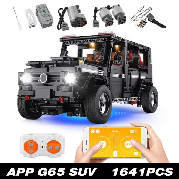 Mould King Moc 20100 Technic Series Benz Suv G500 Awd Wagon Offroad Vehicle Model Building Blocks 5