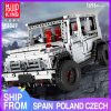 Mould King Moc 20100 Technic Series Benz Suv G500 Awd Wagon Offroad Vehicle Model Building Blocks 6