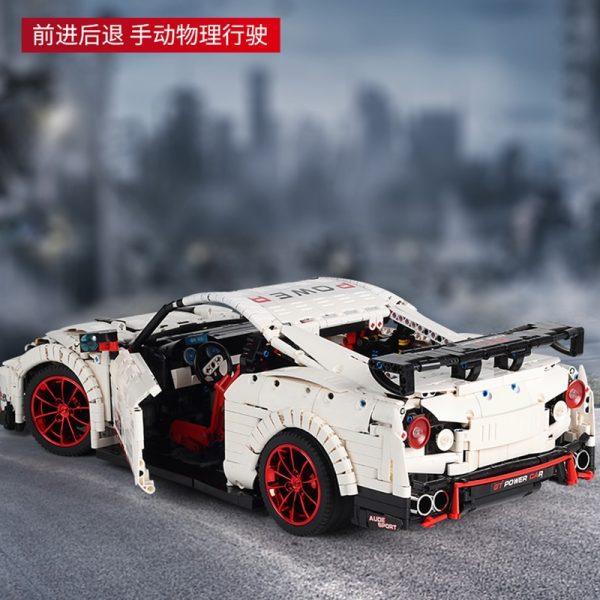 Mould King Moc Technic Series Nismo Nissan Gtr Gt3 Car Model Building Blocks Bricks 13172 Kids 3