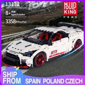 Mould King Moc Technic Series Nismo Nissan Gtr Gt3 Car Model Building Blocks Bricks 13172 Kids