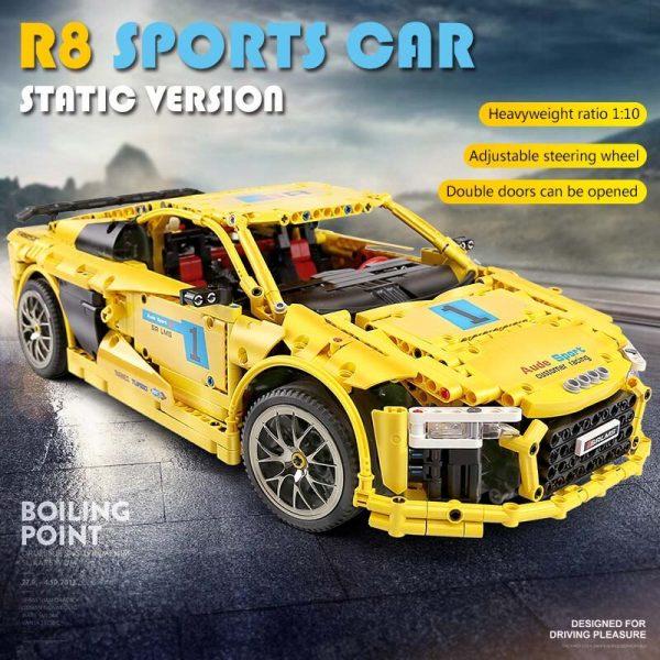 Mould King Moc Technic Series Audis R8 V10 Speed Rs5 Car Model Moc 4463 Building Block 1