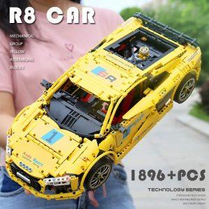 Mould King Moc Technic Series Audis R8 V10 Speed Rs5 Car Model Moc 4463 Building Block 3