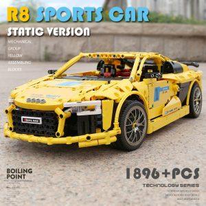 Mould King Moc Technic Series Audis R8 V10 Speed Rs5 Car Model Moc 4463 Building Block 4