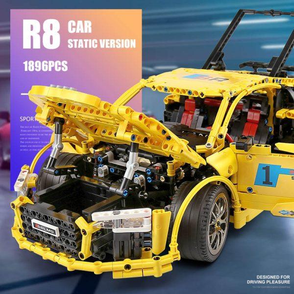Mould King Moc Technic Series Audis R8 V10 Speed Rs5 Car Model Moc 4463 Building Block 5