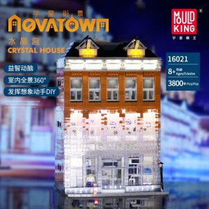 Mould King Moc Street View Light Chaneled Amsterdam Crystal Palace Model Building Blocks Bricks Compatible 16021 1