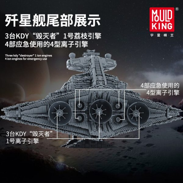 Mould King Star Plan Series The Moc 13135 Imperial Star Destroyer Ucs Fighters Set Building Blocks 2