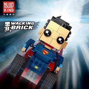 Mould King Technic Crawler Robot Walking Brick Sets Square Head Super Robot Man Model Building Blocks