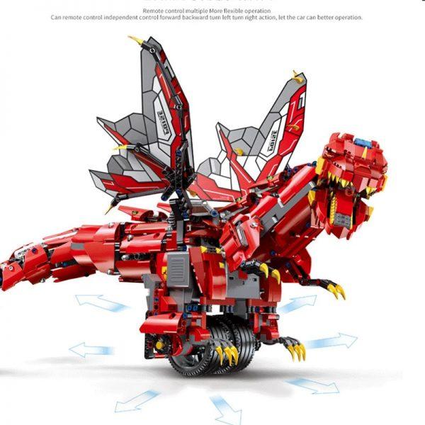 Mould King Technic Eva Car The Moc Ninjagoes Dinosaur Dragon Knight Roadster 13031 Robot Building Blocks 1