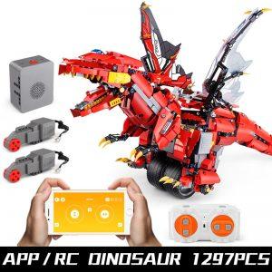 Mould King Technic Eva Car The Moc Ninjagoes Dinosaur Dragon Knight Roadster 13031 Robot Building Blocks 5
