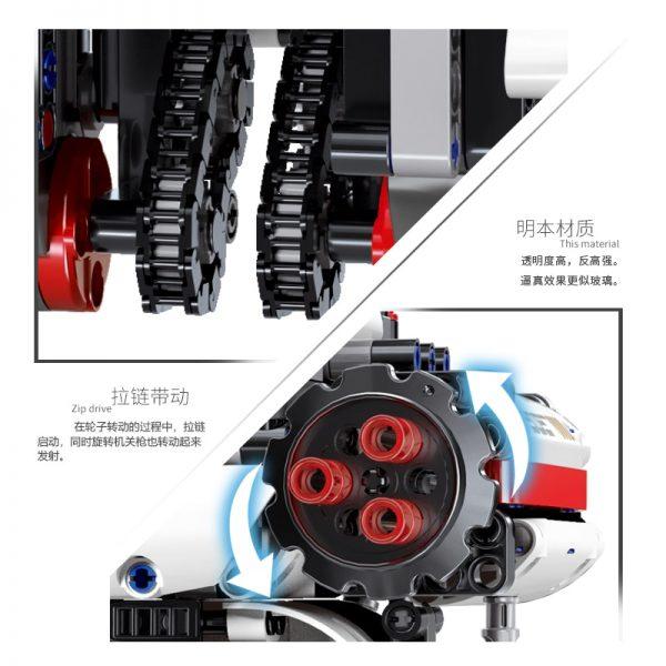 Mould King Technic Idea Mindstorms Programme Remote Control Robot Wall E Model Building Bricks Blocks 31313 3