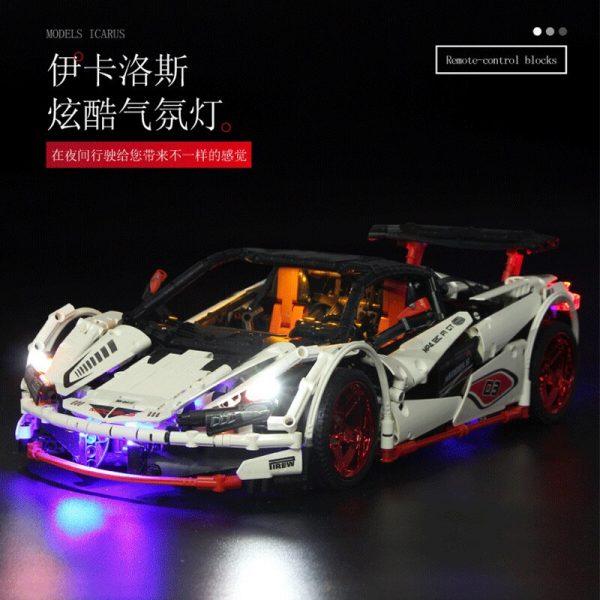 Mould King Technic Moc Mclaren P1 Super Hypercar Veneno Roadster Model Kit Building Blocks 42056 Car 1
