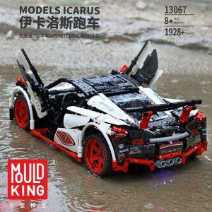 Mould King Technic Moc Mclaren P1 Super Hypercar Veneno Roadster Model Kit Building Blocks 42056 Car 3