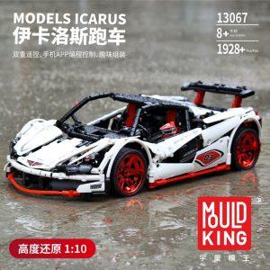 Mould King Technic Moc Mclaren P1 Super Hypercar Veneno Roadster Model Kit Building Blocks 42056 Car 4