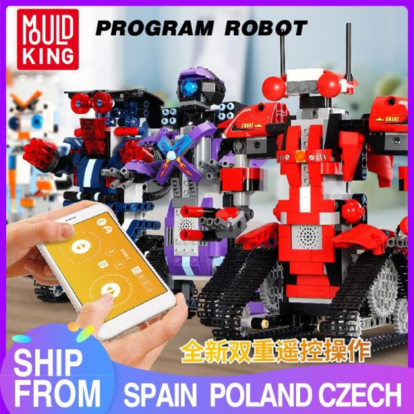 Mould King Technic Robert M2 M1 M3 M4 Set Remote Control Robot Crawler Car Model Building