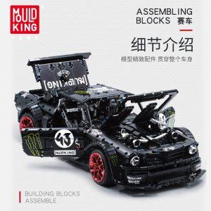 Mould King Technic Series Rc Ford Mustang Hoonicorn Rtr V2 Racing Car Model Building Blocks Bricks 1