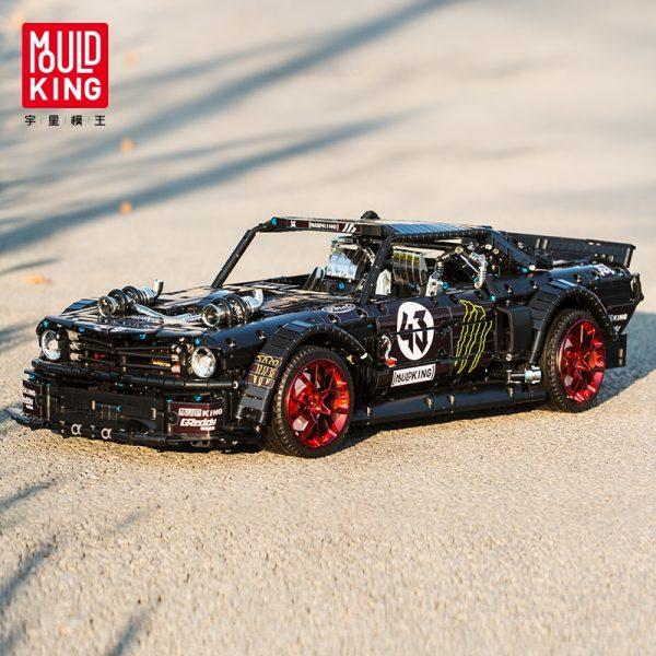Mould King Technic Series Rc Ford Mustang Hoonicorn Rtr V2 Racing Car Model Building Blocks Bricks 5