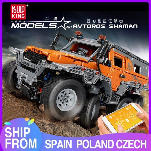 Mould King Technic Series Siberia Off Road Vehicle Remote Control Car Model Building Blocks Bricks 13088
