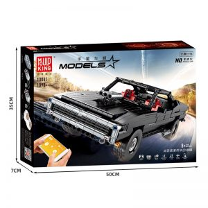 Mould King 13081 Technic App Motorized Car With Moc 17750 Ultimate Muscle Car Model Building Blocks 1
