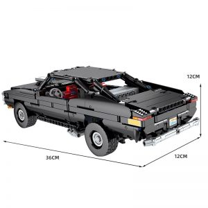 Mould King 13081 Technic App Motorized Car With Moc 17750 Ultimate Muscle Car Model Building Blocks