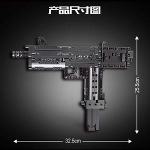 Mouldking 14012 American Ingram Mac 10 Submachine Gun 3