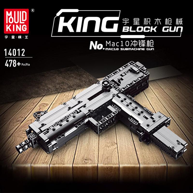 Mouldking 14012 American Ingram Mac 10 Submachine Gun