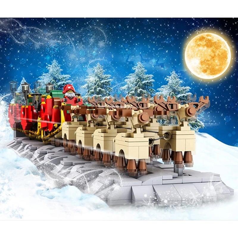 MOULD KING 10015 The Motorized Christmas Santa Sleigh
