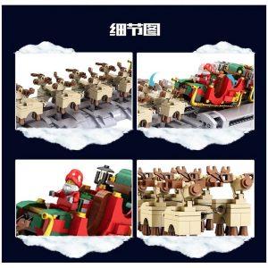 Mouldking 10015 The Motorized Christmas Santa Sleigh 3