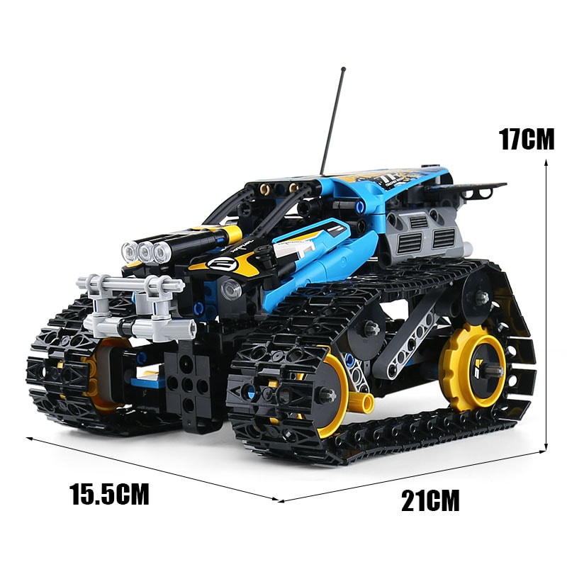 MOULD KING 13032 Mini Tank RC Track Stunt Car Blue